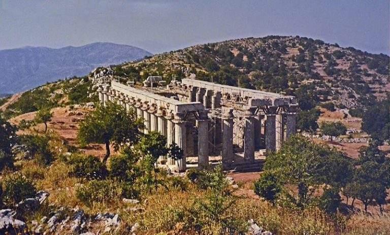 Temple of Apollo Epicurius at Bassae before the canopy. © Carole Raddato / WikiCommons