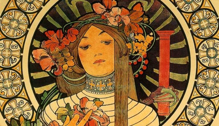 Art Nouveau, La Trappistine, Alphonse Mucha, circa 1897