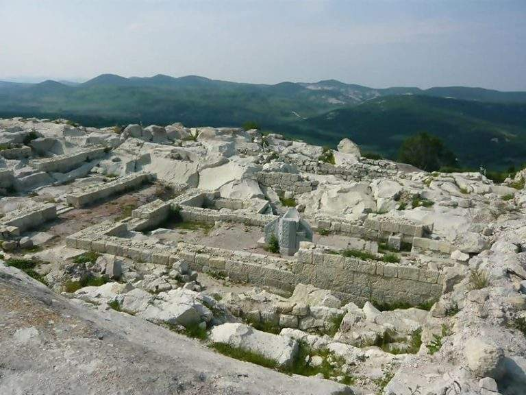 Remains of the late Roman Basilica in Perperikon