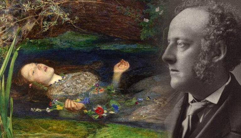 Portrait of Sir John Everett Millais with Ophelia