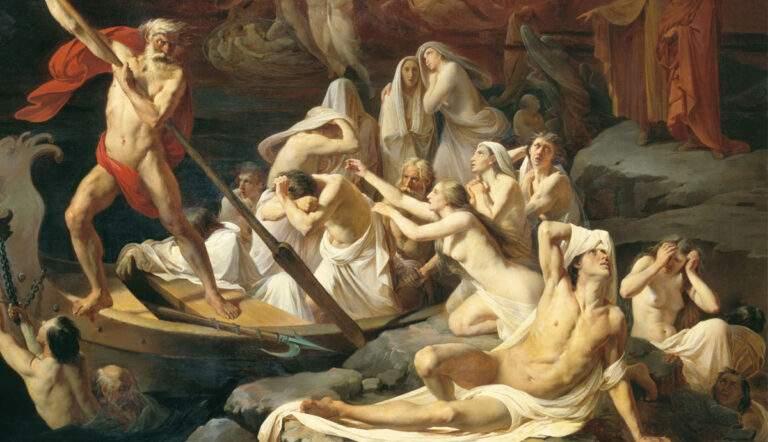 Charon carries souls across the river Styx by Alexander Litovchenko, 1860