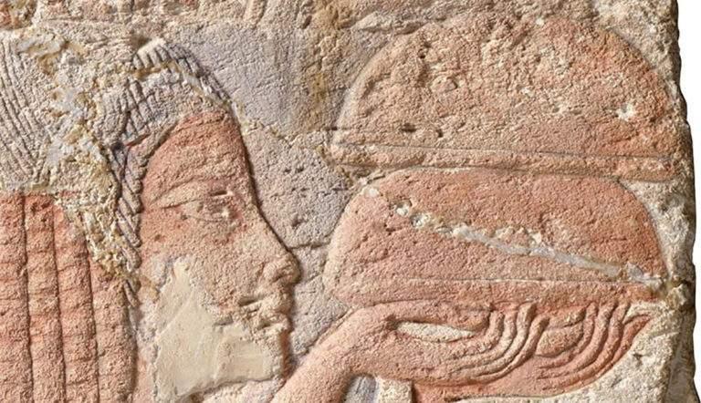 Egyptian Relief depicting the Nurse Tia
