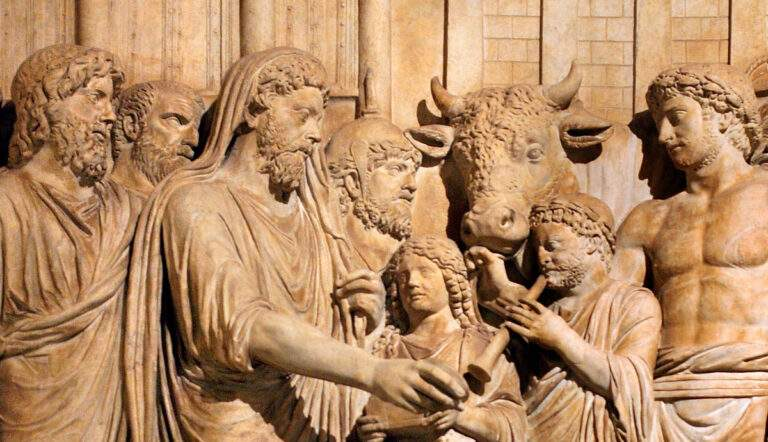 Marcus Aurelius sacrificing, 161-180 A.D., photographer Matthias Kabel via Wikimedia Commons