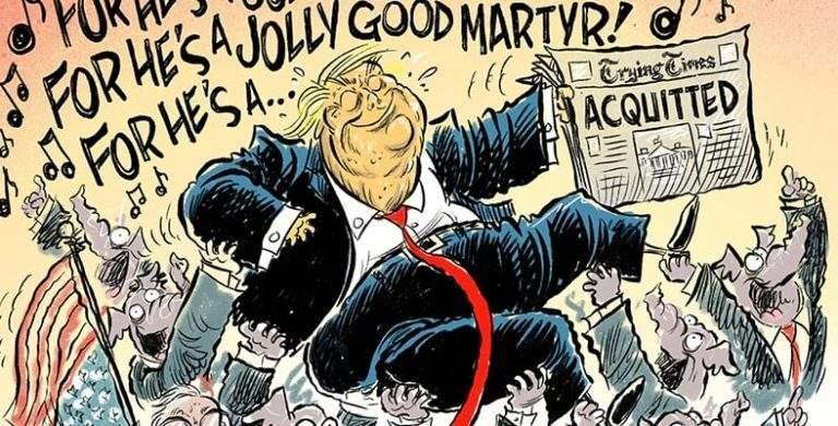 Historic Artwork from Trump's Impeachment Trial