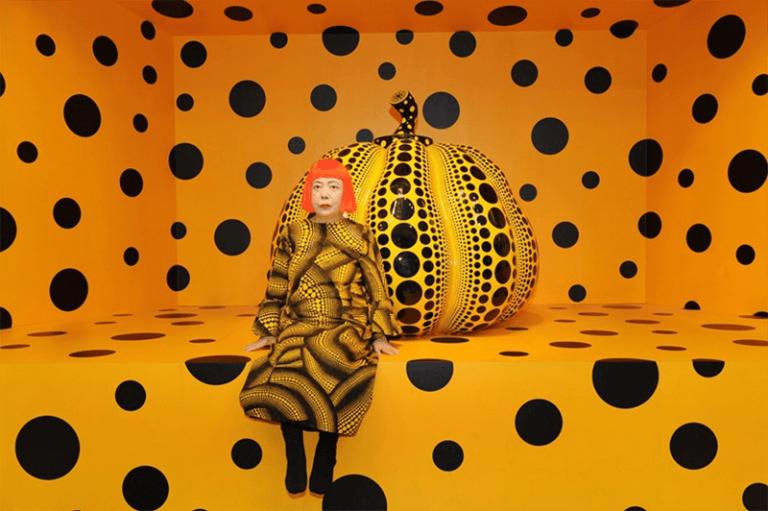 Kusama with Pumpkin, Yayoi Kusama, 2010