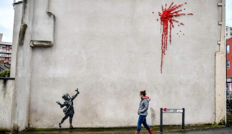 Valentine's Day by Banksy, 2020, Bristol