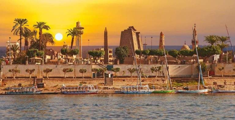 Luxor Temple, Sunset view