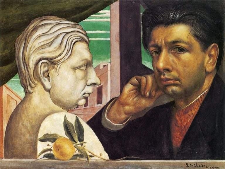 Self-portrait, Giorgio de Chirico, 1922