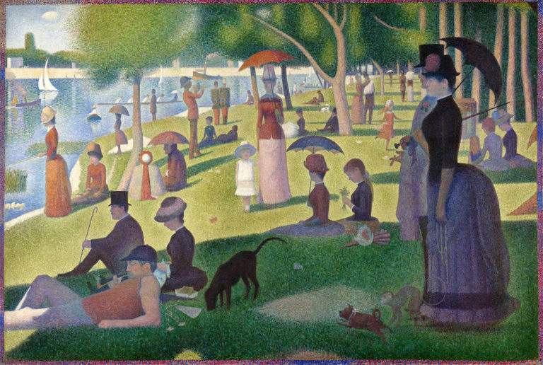A Sunday Afternoon on the Island of La Grande Jatte, Georges Seurat, 1886