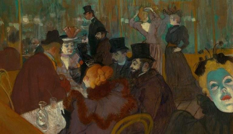At the Moulin Rouge by Henri de Toulouse-Lautrec, 1892-95, courtesy Artic