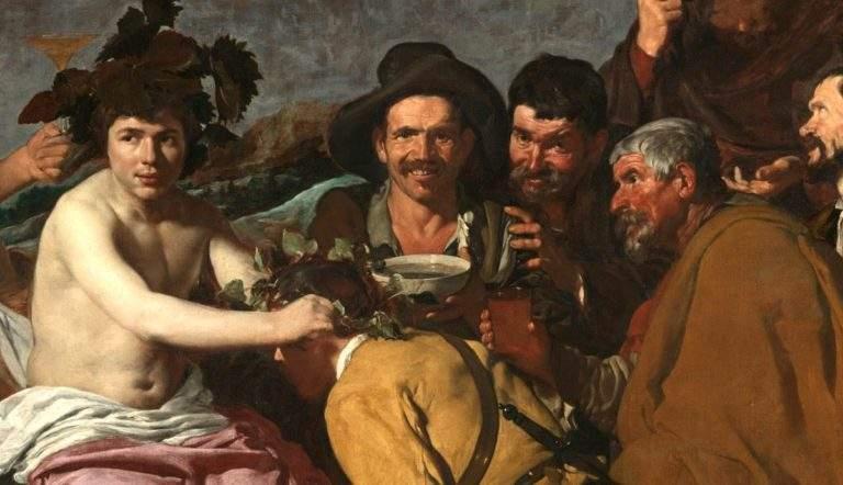 The Feast of Bacchus, Diego Velazquez, 1628-29, courtesy Museo del Prado