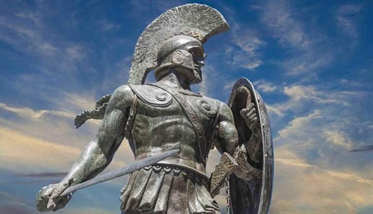 Statue of King Leonidas I in modern-day Sparta