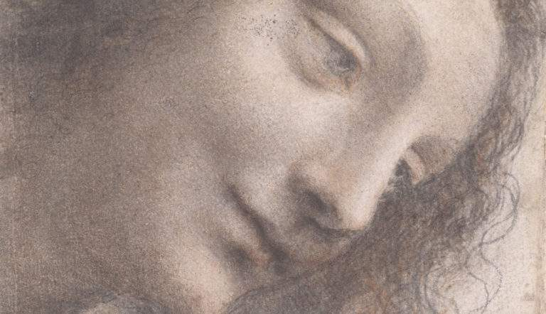 Leonardo Da Vinci's Science Of Painting, a study of the Virgin smiling for the Saint Anne painting.