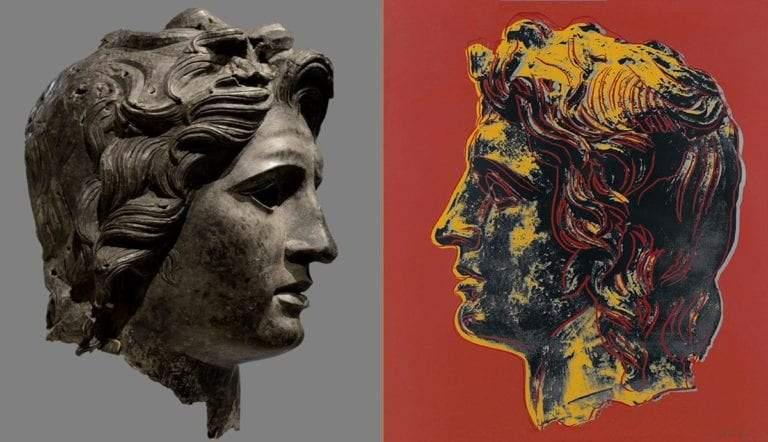 Bronze head alexander the great
