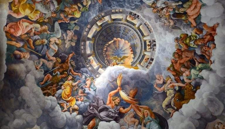 giulio romano wall paintig olympians