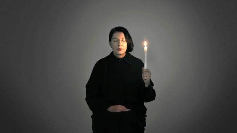 marina abramovic self portrait candle eyes closed