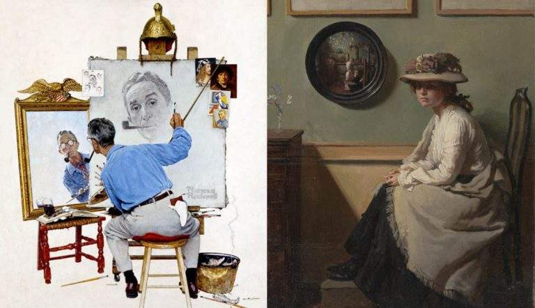 norman rockwell and william orpen mirrors