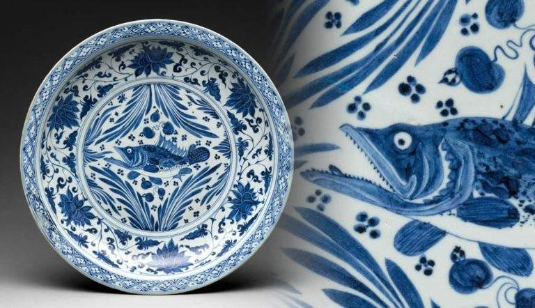 yuan dynasty plate with karp