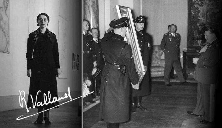 Rose Valland Jeu de Paume Reichsmarschall Göring admiring painting