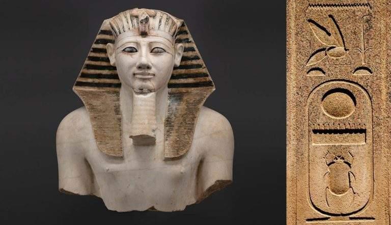 bust statue thutmose iii