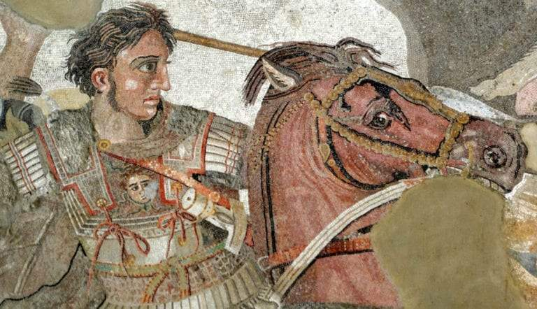 battle of issus mosaic alexander the great