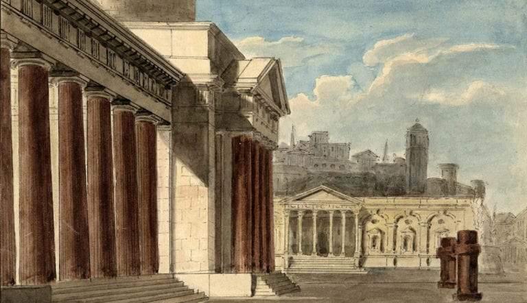 roman forum drawing hodgkin