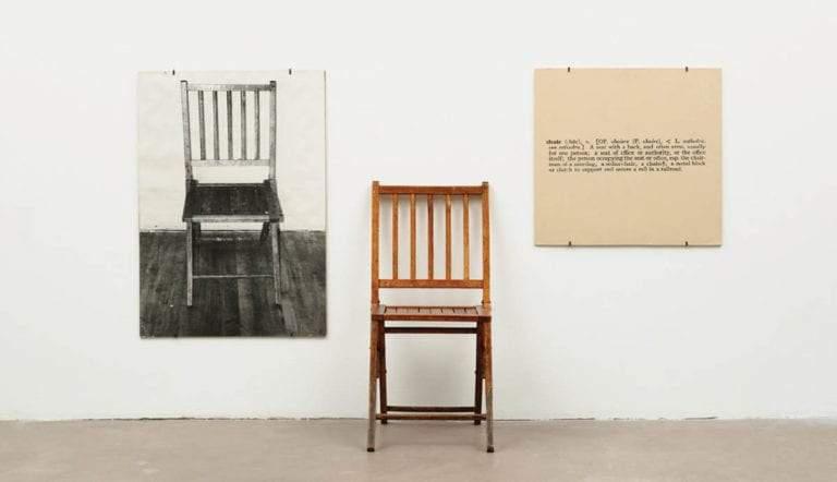one and three chairs joseph kosuth