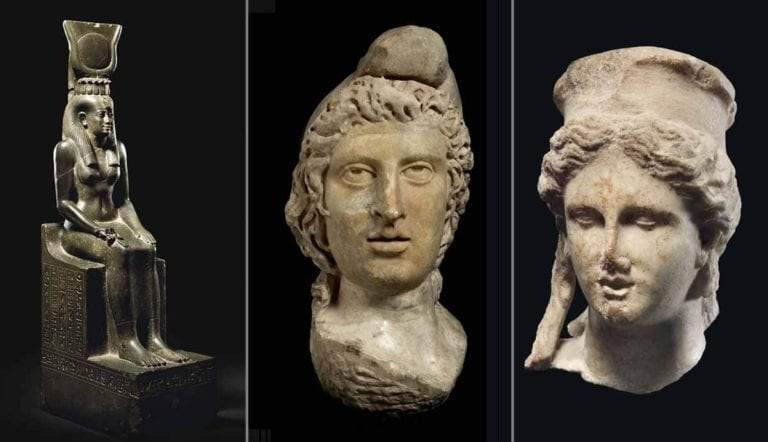 isis mithras cybele statues