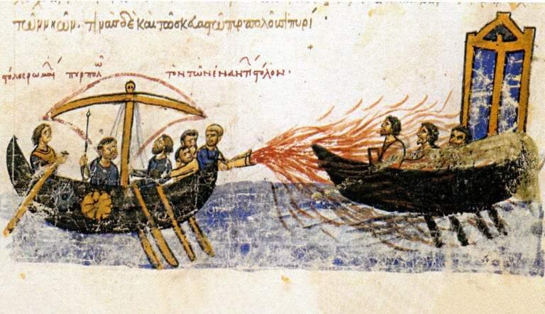 greek fire against thomas the slav