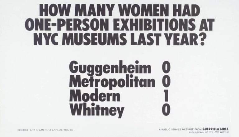 guerrilla girls exhibitions