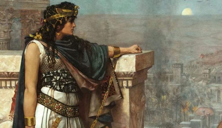 queen zenobia last look upon palmyra