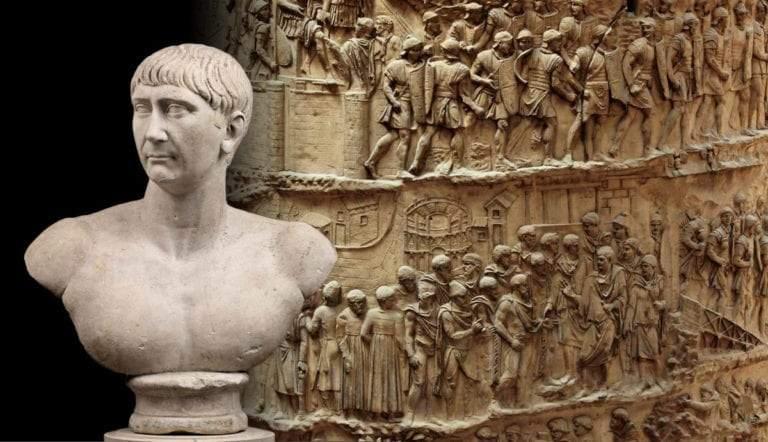 bust emperor trajan