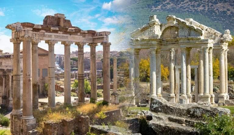 temple aphrodite temple saturn imperial rome