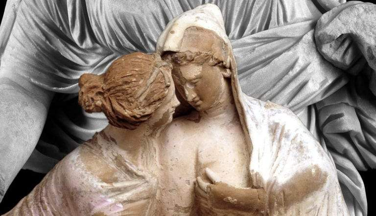 greco roman sculpture demeter persephone