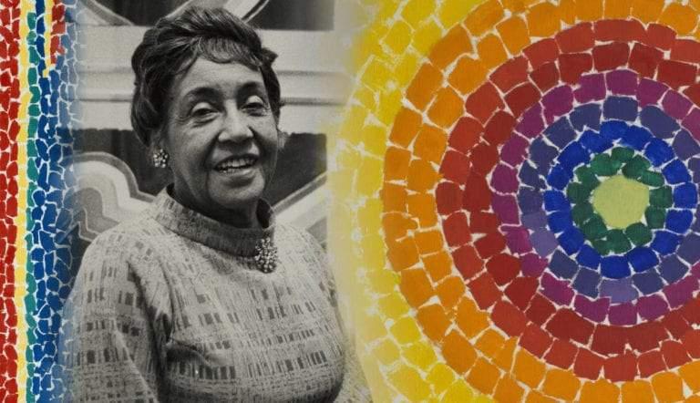 alma thomas abstract mosaic paintings