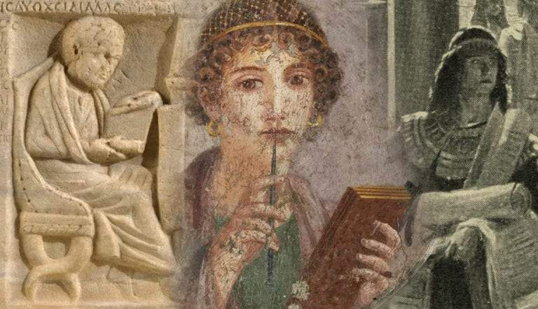 Scholars in the Library of Alexandria
