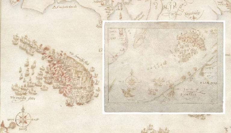 spanish-armada-deafeat-historical-maps-drawings