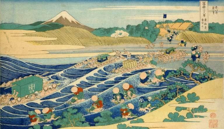 fuji kanaya tokaido highway hokusai