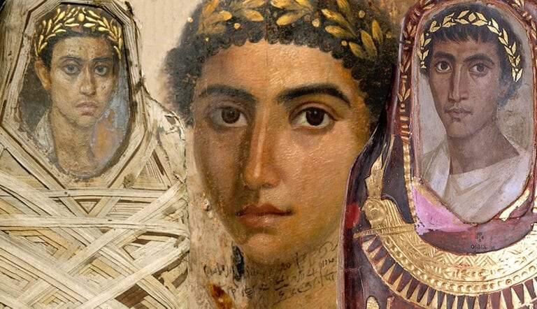 Fayum mummy portraits, youth, Eirene, Artemidorus