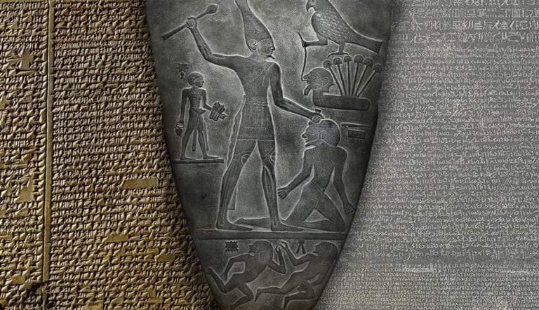flood tablet palette of narmer rosetta stone