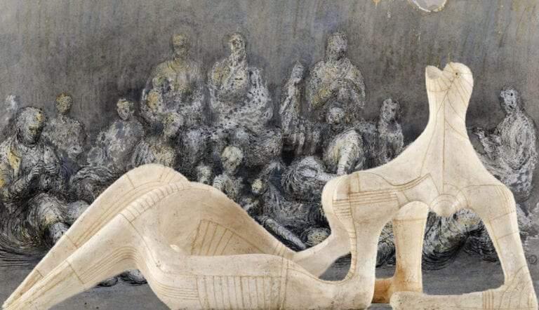 henry moore sculptures