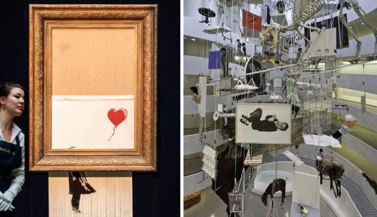 contemporary art banksy maurizio cattelan