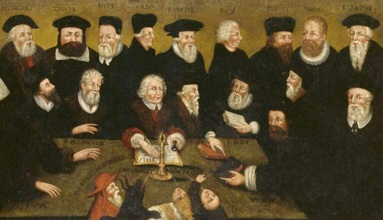protestant reformation reformers painting