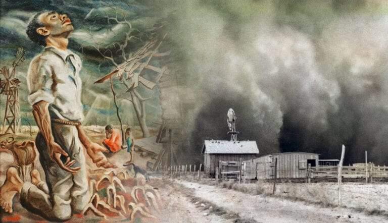 dust bowl art painting