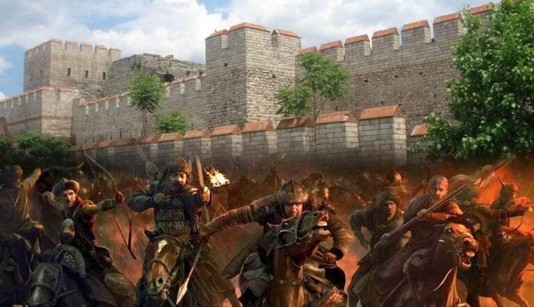 attila and huns theodosian walls
