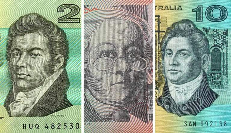 australia currency francis greenway john macarthur mary reibey
