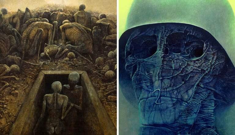 zdislaw beksinski surrealist painter