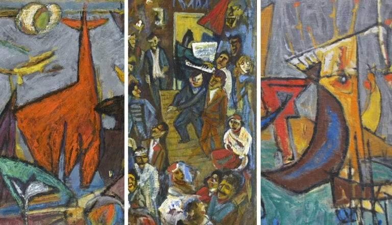 dadaist paintings by marcel janco