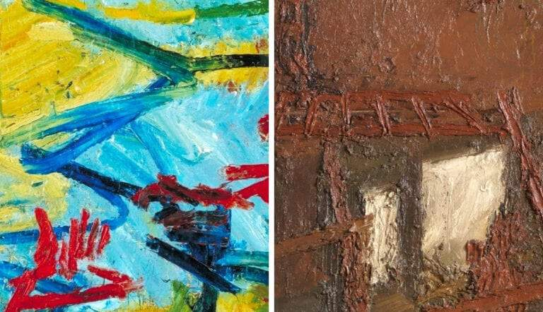 frank auerbach materiality paintings