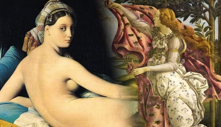 grande odalisque ingres and birth venus botticelli